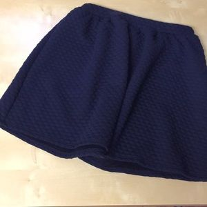 Navy blue quilted skirt